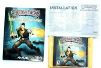 Crusaders of Might & Magic 1999 PC game Disc Manual & install guide. Nice condtn
