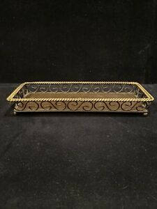 "Rustic Metal / Wire Candle Holder Basket 14"" x 5"""