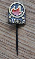 "Vintage USSR Soviet Estonia Cement Factory "" Punane Kunda "" Copper Pin Badge"