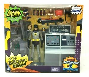 MATTEL DC 2014 - BATMAN & BATCOMPUTER CLASSIC TV SERIES - TO THE BATCAVE! - MISB