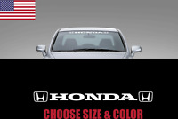 honda DOUBLE logo Windshield Car Decal Sticker jdm Race honda Window Banner