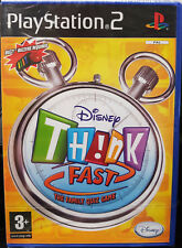 Disney Think Fast - Sony PS2 PlayStation 2 - UK PAL game - new sealed