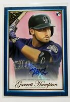 2019 Topps Gallery GARRETT HAMPSON Blue Auto Rookie RC /50 Colorado Rockies