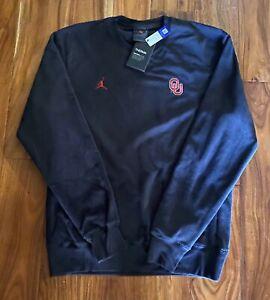 Jordan Oklahoma Sooners Therma Fleece Sweatshirt Sz XL AQ8995-052 Black