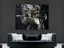 ARMY SOLDIERS SPECIAL FORCES GUNS CAMO GIANT WALL ART PICTURE PRINT LARGE HUGE