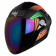 Steelbird Air Sba-2 Robot Full Face Motorcycle Matt Black Orange Green Helmet-L