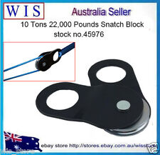 Heavy Duty 10 Tons Snatch Block Pulley 4WD Recovery,Black,Up to 12mm Rope-45976