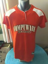 COMPUWARE ORANGE Ladies Softball Jersey Size S DETROIT Personalized HOLLOWAY