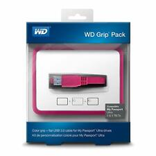 WD Grip Pack for My Passport Ultra 2TB with USB 3.0 Cable, Fuchsia NEW