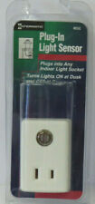 Intermatic Plug-In Light Sensor Turns Lights On and Off White NEW