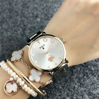 New Design Bear Watch Stainless Steel Quartz Watch Woman & Men's Watch
