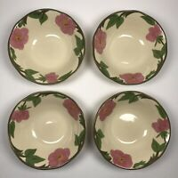 """Set of 4 Franciscan Desert Rose Dessert Fruit Berry Bowl 6"""" Flower Mark (2)"""