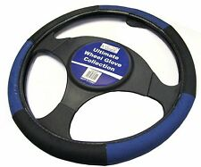 Blue and Black Steering Wheel Cover Glove Protector For Car / Van Soft Grip