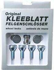Original KLEEBLATT Felgenschlösser Felgenschloss 4x M12x1,25x27mm Kegelbund 60°