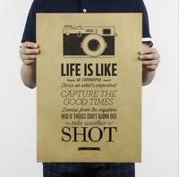 Life is like a camera / kraft paper poster / creative decoration painting