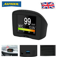 AUTOOL Car OBD Smart Digital&Alarm Clock Fault Code Reader HUD Diagnostic Gauge