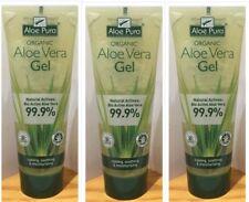 3x Aloe Pura Aloe Vera Gel Natural Active Aloe Vera Soothing Moisturising 200ml