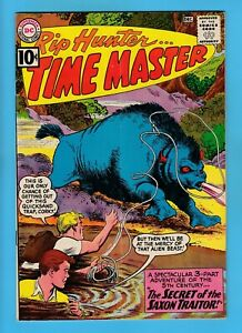 RIP HUNTER TIME MASTER # 5 VG (4.0) BRIGHT & GLOSSY UNSTAMPED 10 CENTS DC- 1961
