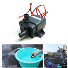 DC12V 3m 240L/H Ultra Quiet Brushless Motor Submersible Pool Water Pump Solar US