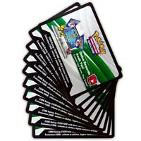 10x Pokemon TCG Sun and Moon Base Set Online Code Cards - Digital Quick Ship