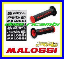 Manopole Stradali MALOSSI Moto Scooter Minimoto GP Nero Rosso strada + adesivi