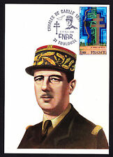1985 France French Postcard Military Army General Charles De Gaulle Uniform FNAR