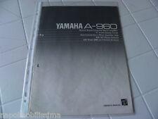 Yamaha A-960 Owner's Manual  Operating Instruction   New