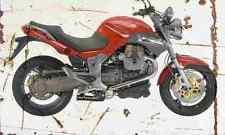 MotoGuzzi Breva V1100 2005 Aged Vintage SIGN A4 Retro