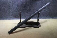 Japanese Hand Forged 1060 Straight Matt Black Wakizashi Ninjato Straight Sword