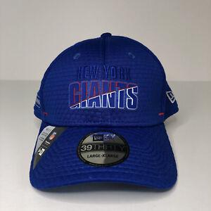 New York Giants New Era Blue Dad Hat Moisture Wicking NFL Training Camp Sz L/XL