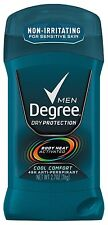 Degree Men Invisible Solid AP Deodorant, Cool Comfort, 2.7 oz (Pack of 12)