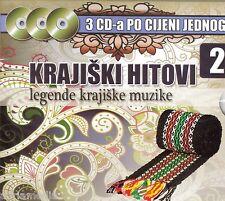 Krajiski Hitovi 2 Legende krajiske muzike 3 CD Baja Mali Knindza Zvuci Hercegovi