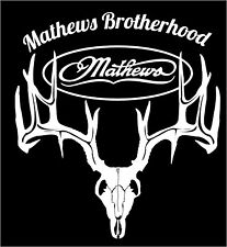 "Mathews Brotherhood decal 10"" wide X 9"" tall"