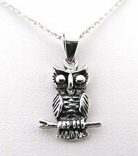 925 Sterling Silver Double Sided Owl Pendant without a Chain / Necklace