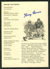 GEORGE  CONNER   5X7  AUTH.  AUTO   HOF  STAT  CARD   NM   !!