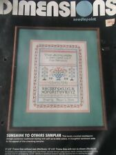 "VINTAGE NEEDLEPOINT KIT SUNSHINE TO OTHERS SAMPLER 8"" X 10"""