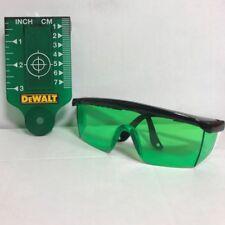 Stanley Target Card & DE0714G Glasses For Green Beam Laser Levels New