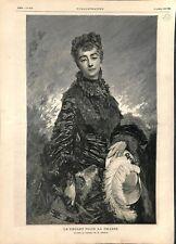 Le départ pour la chasse Tableau de Charles Chaplin Peintre 1878 ILLUSTRATION