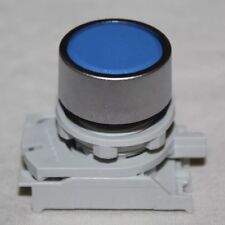 Panel Mount Push Switch Plunger - Blue Circular - Contact Block Fitment
