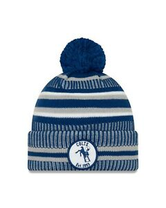 Indianapolis Colts New Era 2019 Home Est, Sport Knit On-Field Pom Knit Hat