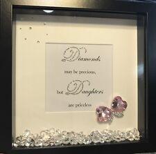 Swarovski Crystals Daughter 3D Boxframe