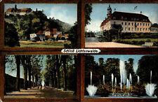 Lichtenwalde Sachsen Postkarte 1913 Schloss Partie alte color Mehrbildkarte gel.