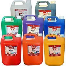 Artmix 5 litre Container Ready Mix Craft Poster Paints Kids Children's asst Cols
