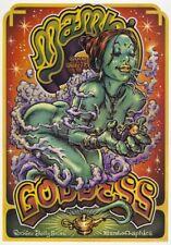 RARE Vintage Surf Art Poster by Rockin' Jelly Bean - Mambo Goddess, 2000 [UK]