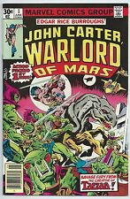 **JOHN CARTER WARLORD OF MARS #1**JUN 1977, MARVEL**MOVIE COMING SOON!**NM/VF**