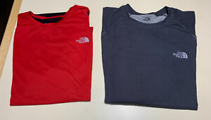 The North Face Vapor Large Short Sleeve Shirt long LOT red  Athletic Hiking LG