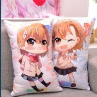 2way A Certain Scientific Railgun Misaka Mikoto Anime Cushion Throw Pillow Cases