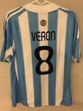 Juan Sebastian Veron Afa Argentina Adidas Football Kit Soccer Jersey Size Large