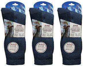 1x Mens Merino Wool Blend Warm Socks Thick Heavy Duty Work Hiking Boot Charcoal