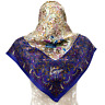 "KenzoScarf Wrap Blue Colorful Paisley&Flower Silk34*35"""